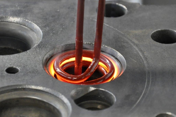 Inductive annealing of a valve seat