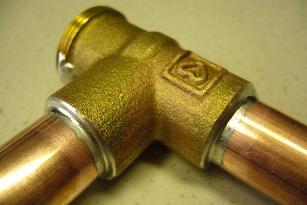 Brazing copper and brass