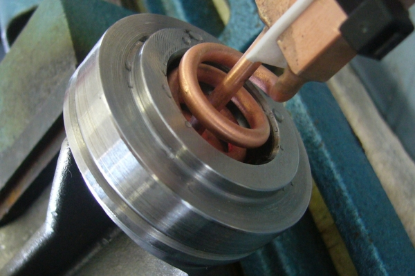 Shrinking with induction heating