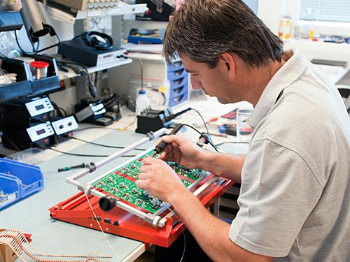 Die Elektronik wird im Haus produziert