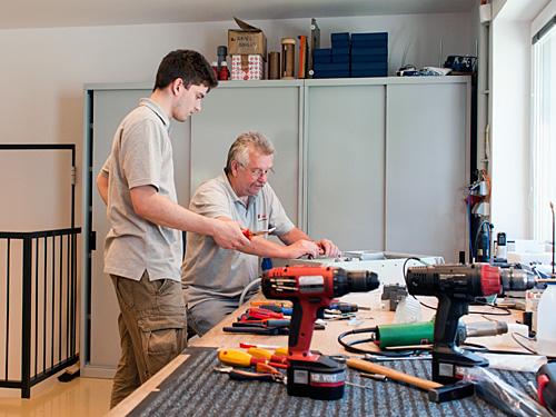 Mitarbeiter der Konstruktion